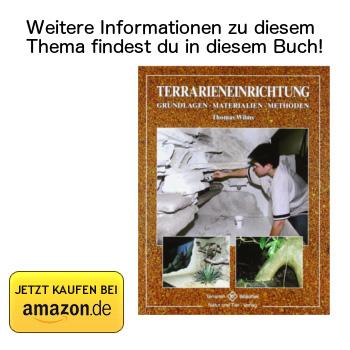 Terrarieneinrichtung: Grundlagen, Materialien, Methoden - Buchtipp bei Amazon ansehen.