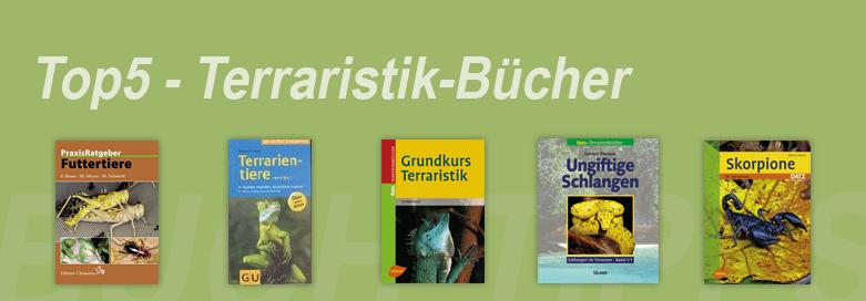 Die 5 beliebtesten Terraristik-Bücher